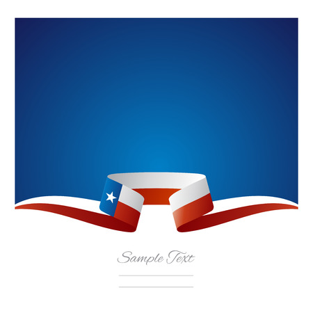 Abstract background Texas flag ribbon Ilustração