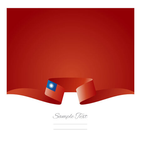 taiwanese: Abstract background Taiwanese flag ribbon Illustration