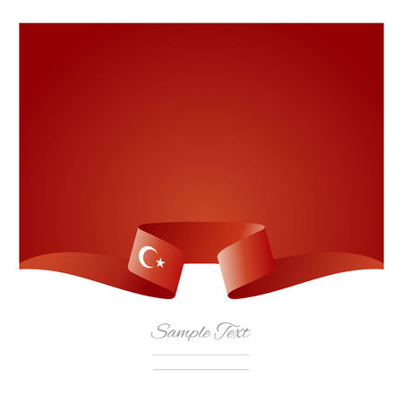 turkish flag: Abstract background Turkish flag ribbon