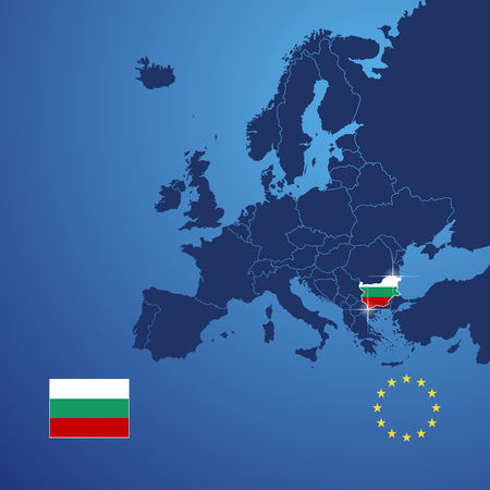 bulgaria: Bulgaria map cover vector