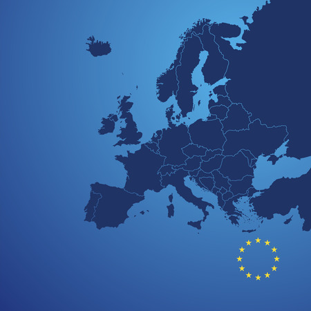 Europe map cover vector