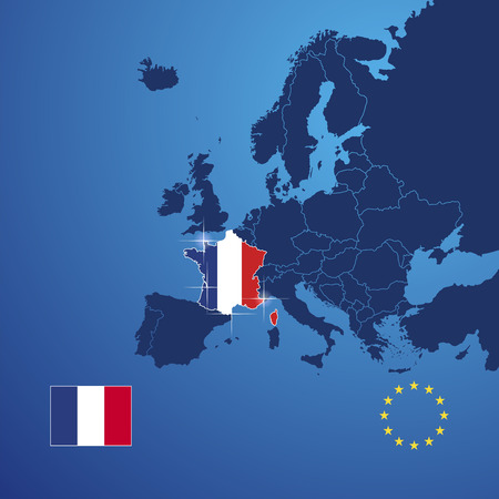 France map cover vector Vector