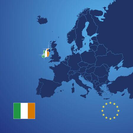 ireland map: Ireland map cover vector