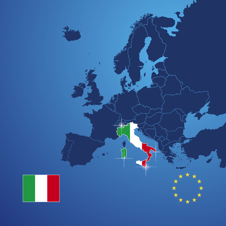 Italy map cover vector