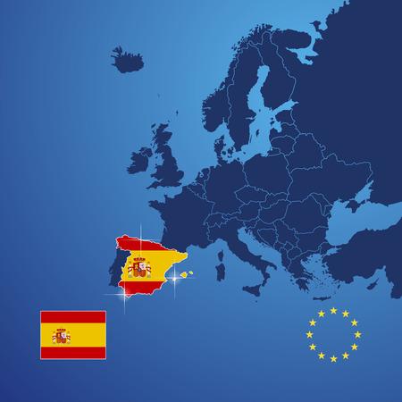 spain map: Spagna Mappa copertina vettore