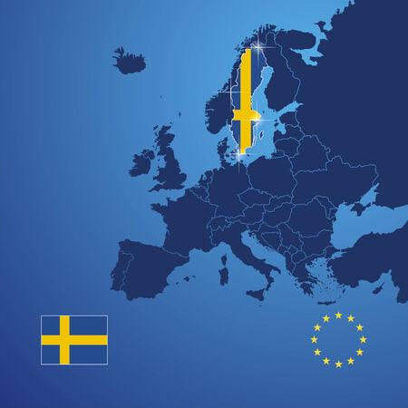 Sweden map cover vector