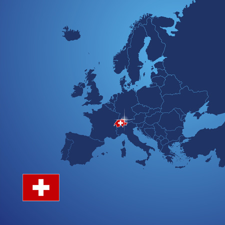 switzerland flag: Switzerland map cover vector