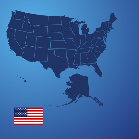 US map cover vector Vector