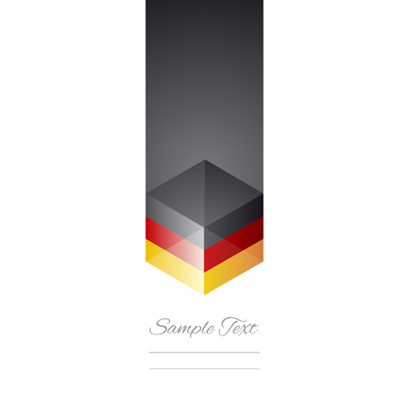 Germany cube flag white background vector Vector