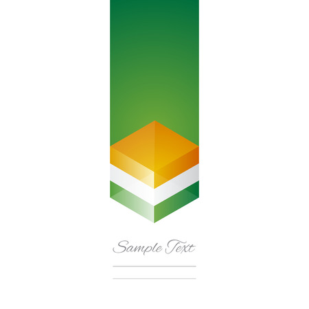 Ireland cube flag white background vector Vector
