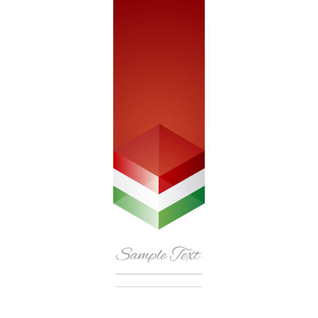 Italy cube flag white background vector Vector