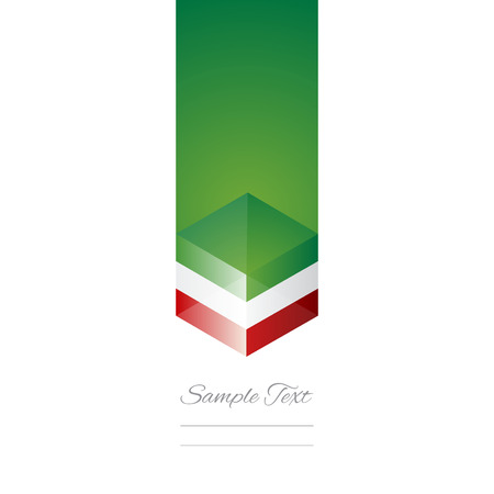 Mexico cube flag white background vector Vector