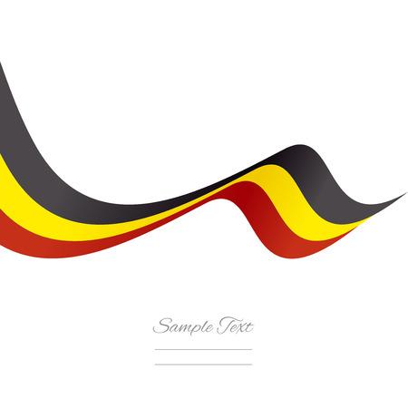 belgium flag: Abstract Belgian ribbon vector