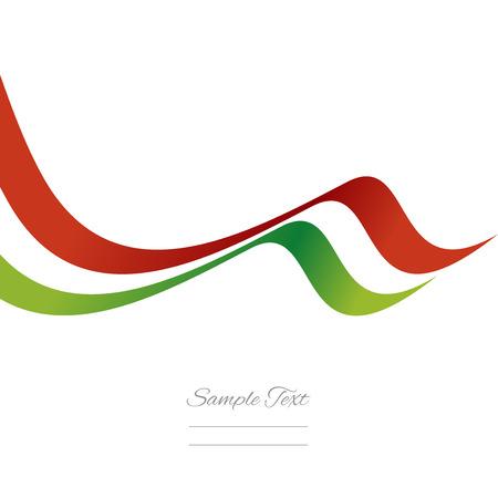 抽象的なイタリア リボン ベクトル