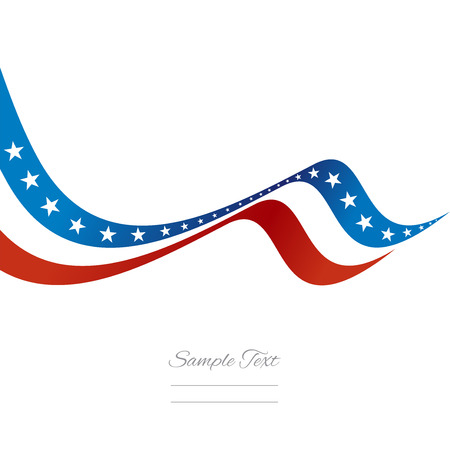 Abstract US ribbon vector