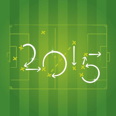 2015 football strategies for goal Vector
