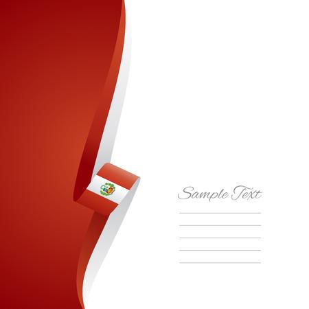 bandera de peru: Perú lado izquierdo portada del folleto de vectores Vectores