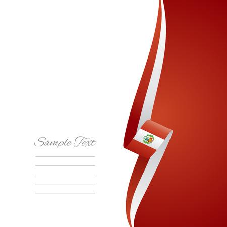 bandera de peru: Perú lado derecho portada del folleto de vectores