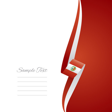 right side: Peru right side brochure cover vector Illustration