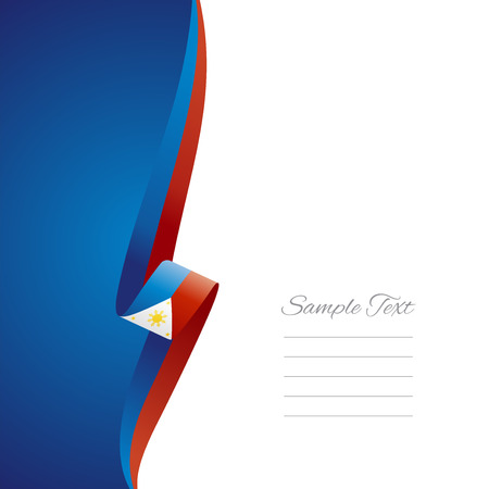 Philippine left side brochure cover vector Illustration