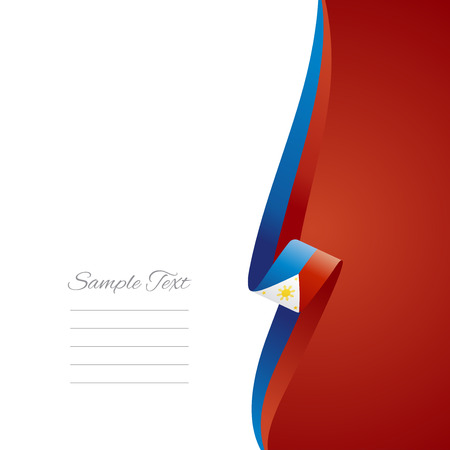 Philippine right side brochure cover vector