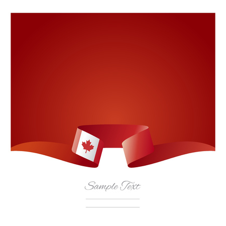 canadian flag: Abstract background Canadian flag ribbon