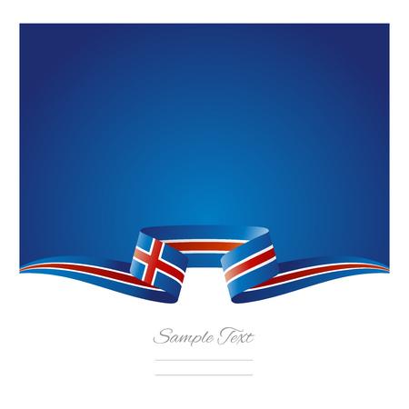flag of iceland: Abstract fondo de la bandera de Islandia cinta