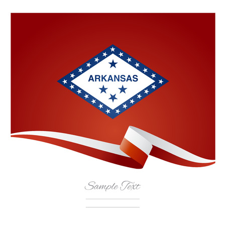 streamers: Arkansas flag ribbon vector Illustration