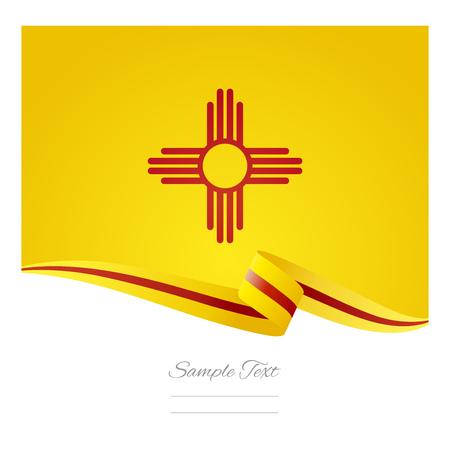 mexico flag: New Mexico flag ribbon vector