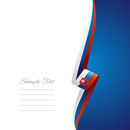 slovakia flag: Slovakia right side brochure cover  Illustration