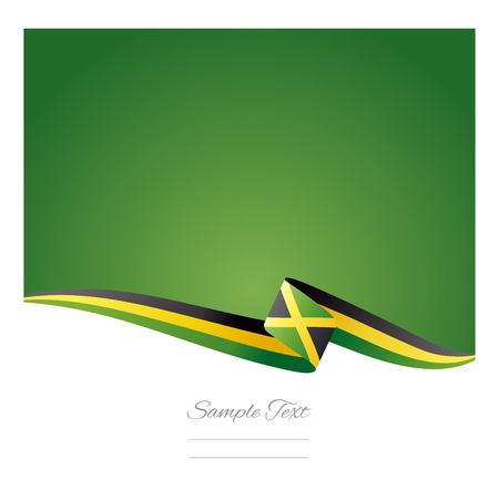 Abstract color background Jamaica flag