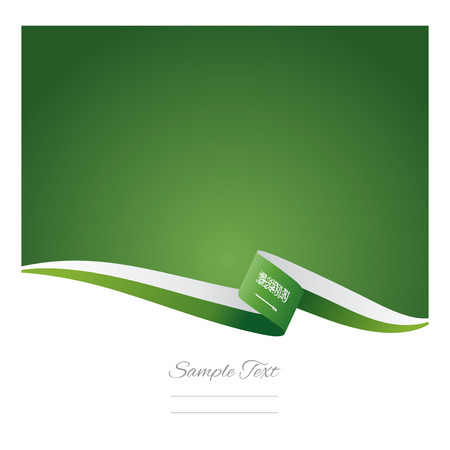 flags: Abstract color background Saudi Arabia flag Illustration