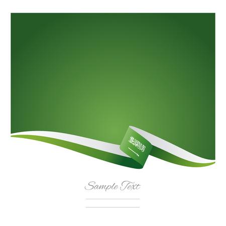 arabia: Abstract color background Saudi Arabia flag Illustration
