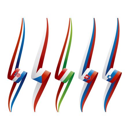 czech flag: Abstract color background South East Europe flag