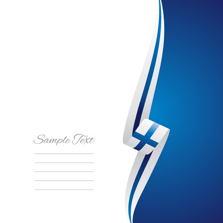 finland: Finland right side brochure cover vector Illustration