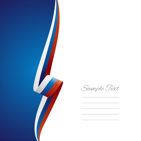 Russia left side brochure cover vector
