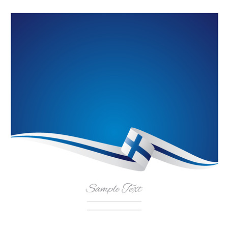 Abstract color background Finnish flag vector