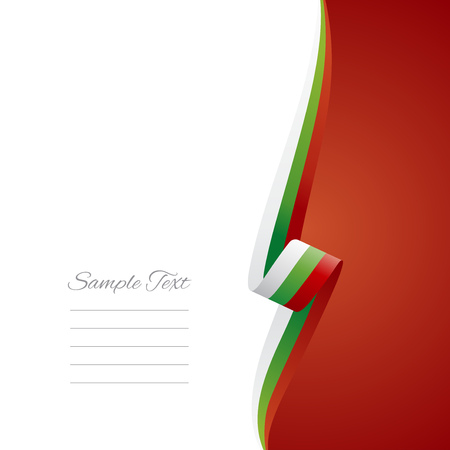 right side: Bulgaria right side brochure cover vector
