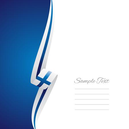streamer: Finland left side brochure cover vector