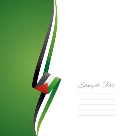 palestine: Palestine right side brochure cover vector