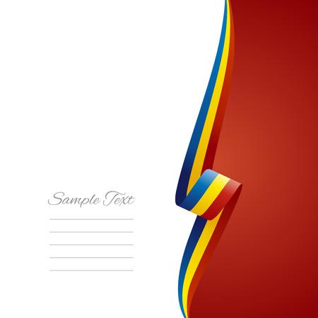 romania flag: Romania right side brochure cover vector Illustration