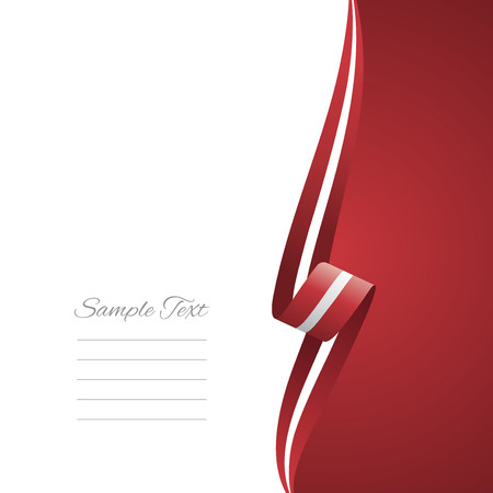 Latvia right side brochure cover vector