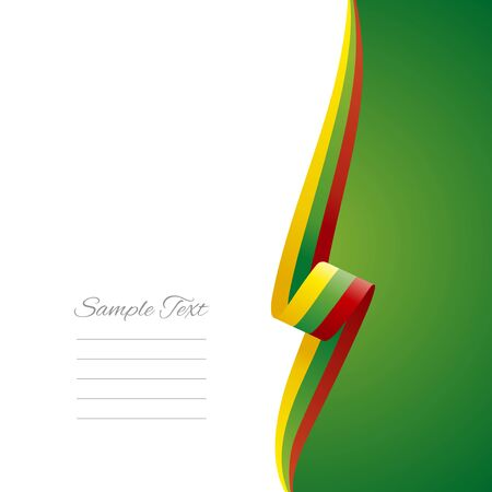 lithuanian: Lithuania right side brochure cover vector