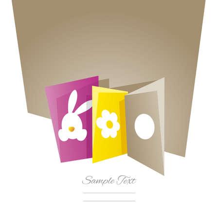 brown: Easter cards brown background Illustration