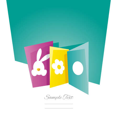 sea green: Easter cards sea green background