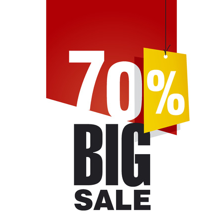sales: Big Sale 70 percent off red background