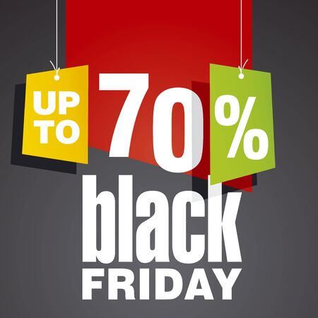 trade off: Black friday Sale up to 70 percent off red black background