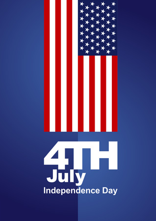 4th of july: 4th July red blue background