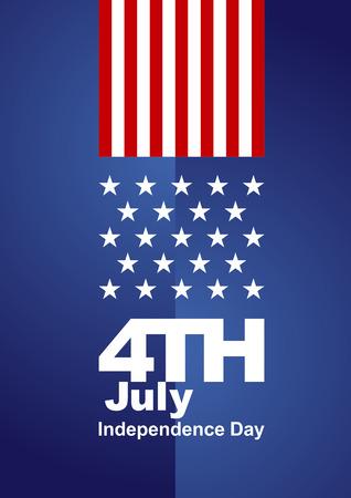 julio: 04 de julio de fondo rojo blanco azul Vectores