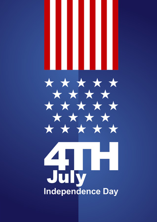 4th July red white blue background